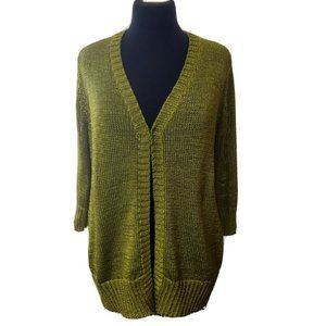 Chico's Travelers Cardigan Sweater Green 1 M Comfy